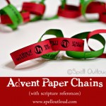 advent paper chains with scripture reference: spelloutloud