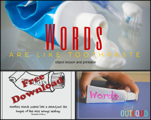 Words are Like Toothpaste