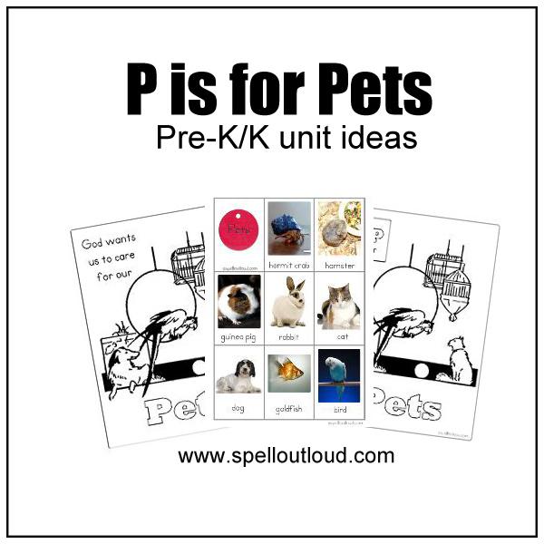 Pet Theme Unit Resources for Pre-K