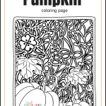 free pumpkin coloring page