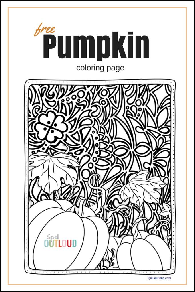 free pumpkin coloring page
