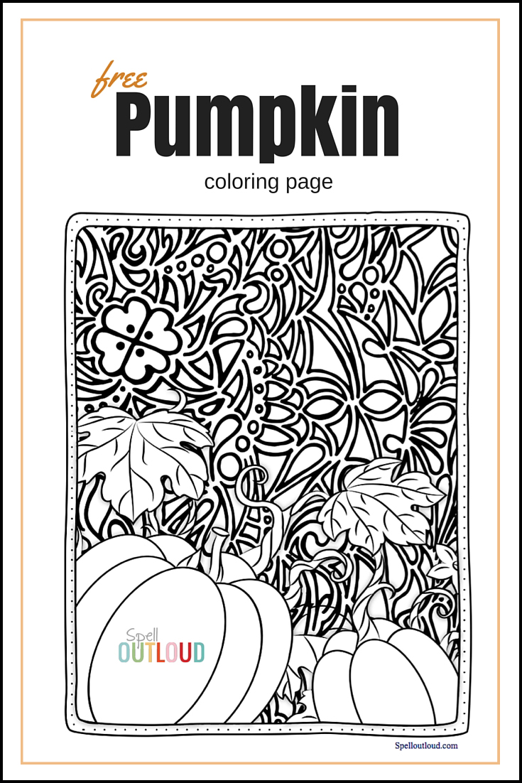 photo regarding Free Pumpkin Worksheets Printable identify P is for Pumpkin - Spell Out Loud