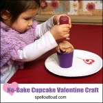 NoBake Cupcake Valentine Craft from Spell Outloud