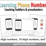 Teaching toddlers and preschoolers their phone number