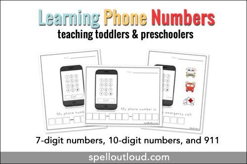 Calendar April 2013 Printable : Learning telephone numbers printable spell out loud