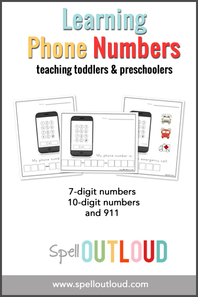 teaching toddlers and preschoolers their telephone number