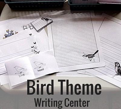 Bird Theme Writing Center
