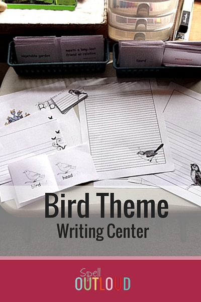 Bird Theme Writing Center