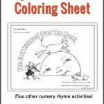 Hey Diddle Diddle coloring sheet