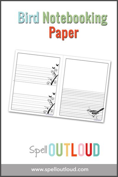 bird notebooking paper