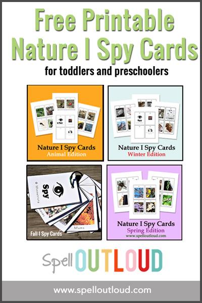 Free Printable I Spy Cards