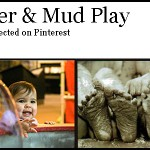 water and mud play for preschool