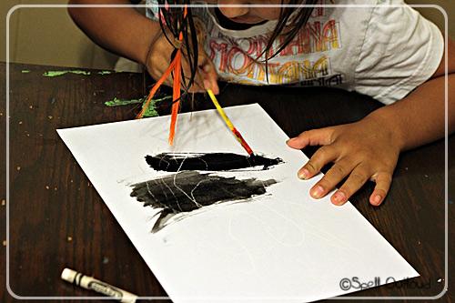 Crayon - Resist Painting