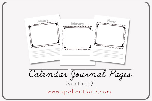For more free printable calendar notebook pages, check out these ...