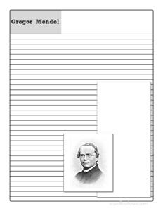 Gregor Mendel Notebooking Page