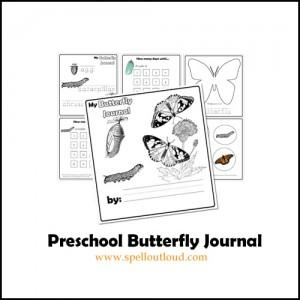 Preschool Butterfly Journal
