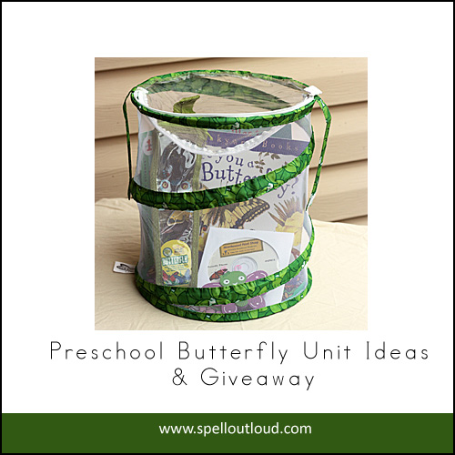 preschool butterfly unit giveaway from Spell Outloud