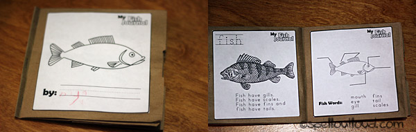 Printable fish journal