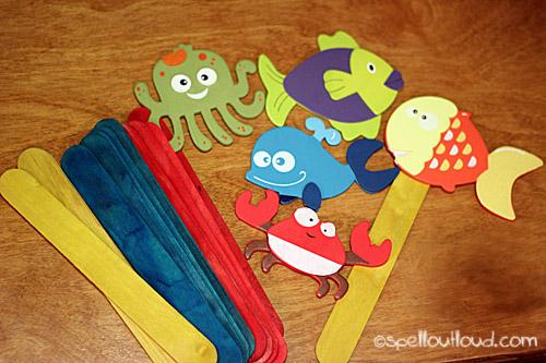 fish stick puppets