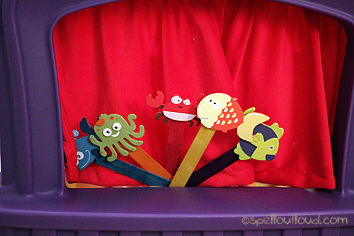 fish puppet show