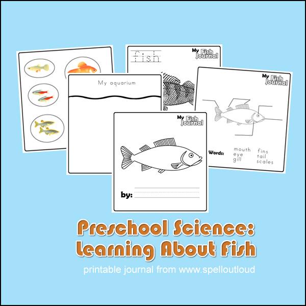 Preschool Fish Journals