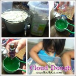 cloud dough with essential oils