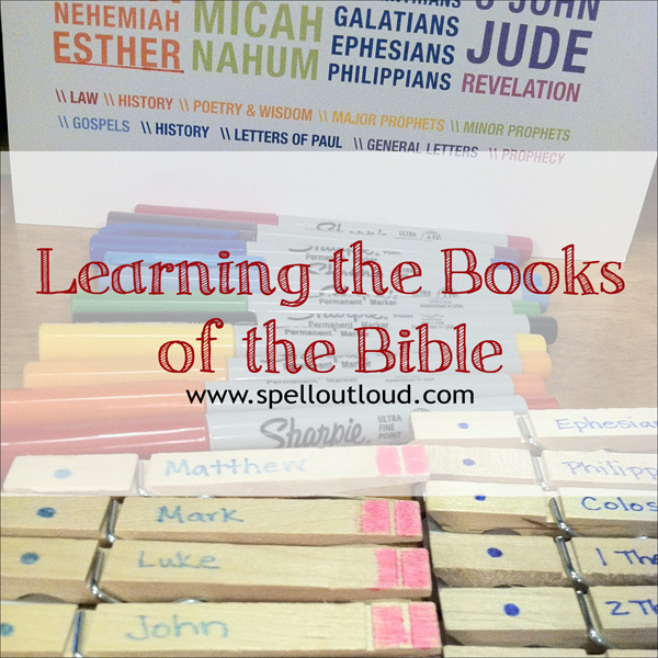 Learning The Books Of The Bible Spell Out Loud
