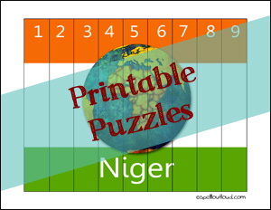 printable puzzels of Niger