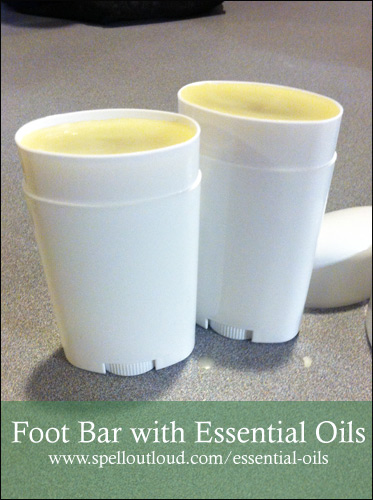 Homemade Foot Bar with Essential Oils