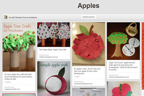 Apple Pinterest Board
