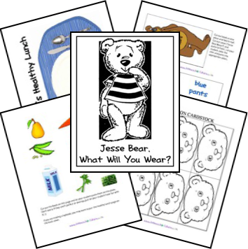 Jesse Bear Lapbook from Homeschool Share