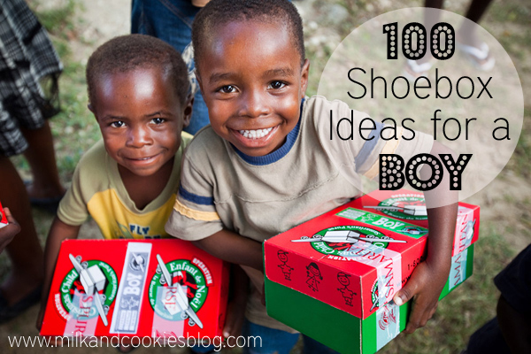 100 Shoebox items for boys