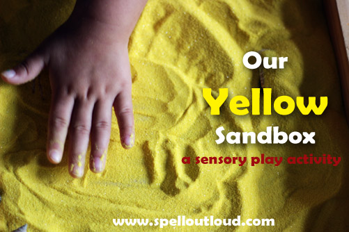 Yellow sensory play activity