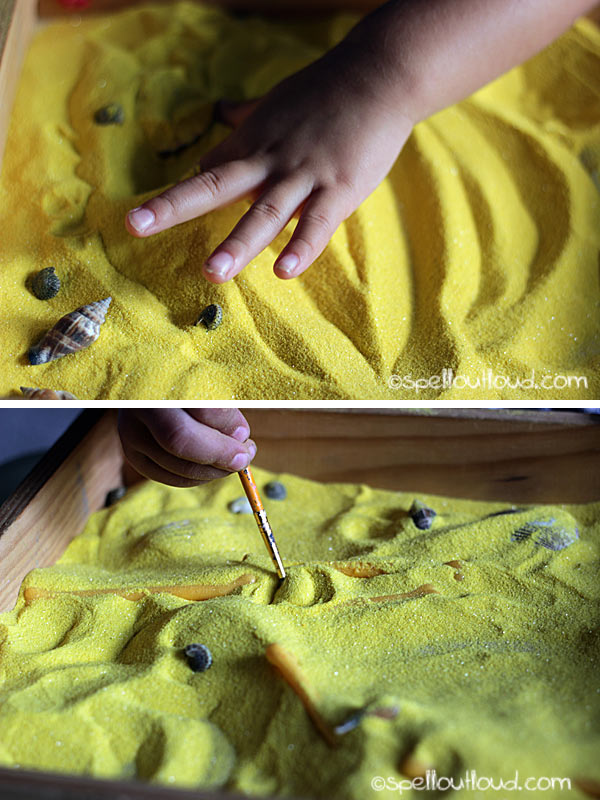 Learning about yellow: sensory play