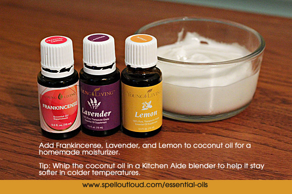 moisturizer using essential oils