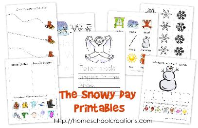The Snowy Day Printables from Homeschool Creations