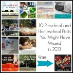 Best Homeschool and Preschool Posts of 2013
