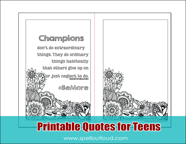 Printable quotes for Teens