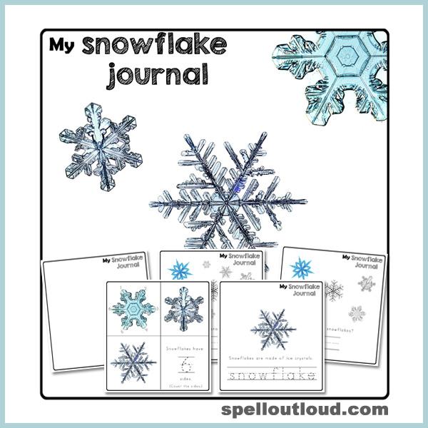 Free printable snowflake journal
