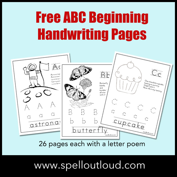 ABC Beginning Handwriting Pages