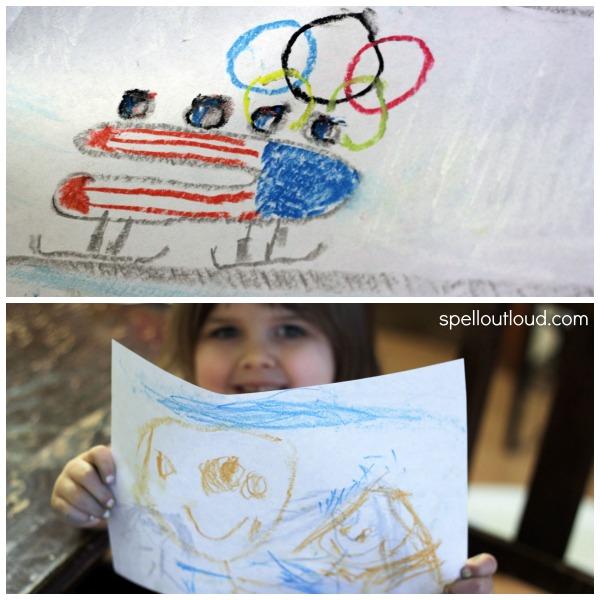 Olympic Chalk Art