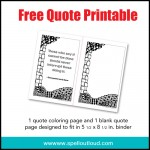 March Free Quote Printable