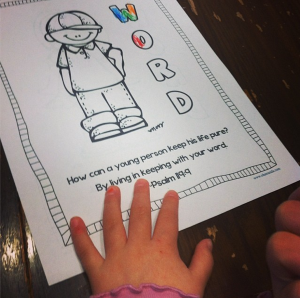 Free Psalm 119 coloring pages
