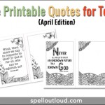April Free Printable Quote for Teens