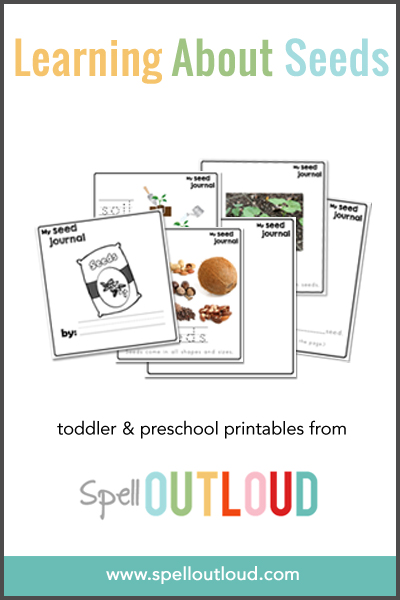 Toddler and Preschool Printable Seed Journal