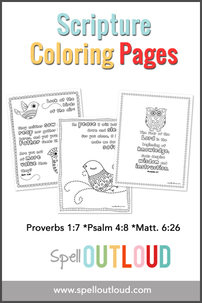 3 Free Scripture Coloring Pages Spell Out Loud