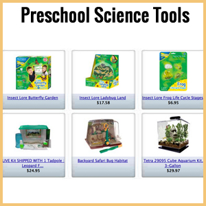preschool science books and tools