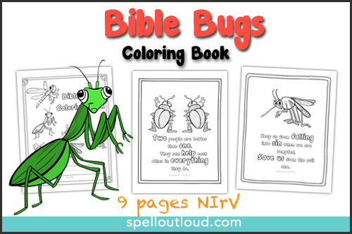 Bible Bugs Scripture Coloring Pages