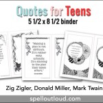 Free Quote printables for teens