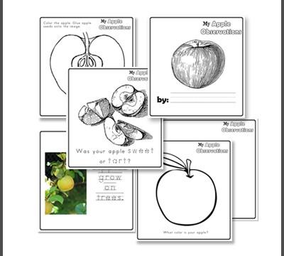 Free printable apple booklet